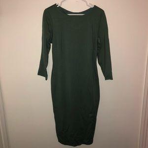 Bailey 44 Sage Green Stretch Knit Bodycon Dress